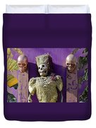 Fall  Halloween On Tillson Street Duvet Cover