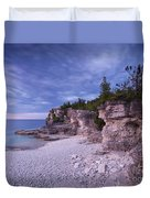 Georgian Bay Cliffs At Sunset Duvet Cover