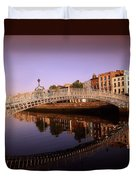 Hapenny Bridge, River Liffey, Dublin Duvet Cover