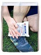 Injured Ankle Duvet Cover