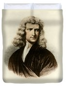 Isaac Newton, English Polymath Duvet Cover
