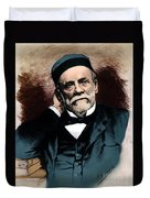 Louis Pasteur, French Chemist Duvet Cover by Science Source