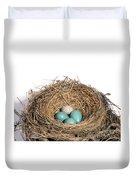 Robins Nest And Cowbird Egg Duvet Cover