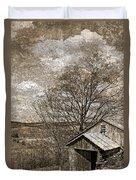 Rustic Hillside Barn Duvet Cover