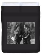Silent Still: Two Men Duvet Cover