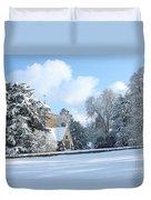 Snowy Scene In England Duvet Cover
