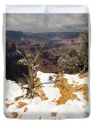 Winter Time On The South Rim Duvet Cover