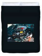 65 Plymouth Satellite Engine-8482 Duvet Cover