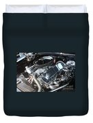 67 Black Camaro Ss 396 Engine-8033 Duvet Cover