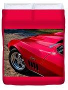 69 Red Detail Duvet Cover