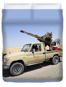 A Free Libyan Army Pickup Truck Duvet Cover