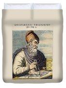 Archimedes (287?-212 B.c.) Duvet Cover