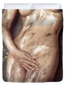 Beautiful Soiled Naked Woman's Body Duvet Cover