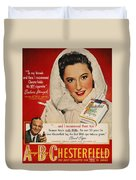 Chesterfield Cigarette Ad Duvet Cover