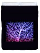 Electrical Discharge Lichtenberg Figure Duvet Cover by Ted Kinsman