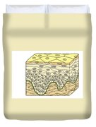 Illustration Of Stratified Squamous Duvet Cover by Science Source