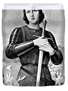 Joan Of Arc, French National Heroine Duvet Cover