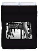 Stripped Dress Duvet Cover