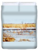 7 Swans Swimming  Duvet Cover