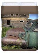 Vintage Farm Trucks Duvet Cover