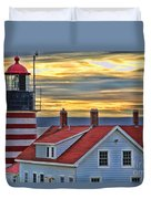 West Quoddy Head Lighthouse 3822 Duvet Cover