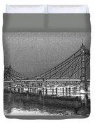 Albert Bridge London Duvet Cover