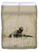 Belgian Paratroopers On Guard Duvet Cover