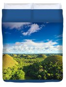 Chocolate Hills Duvet Cover