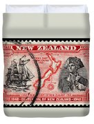 old New Zealand postage stamp Duvet Cover
