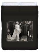 Silent Film Still: Wedding Duvet Cover