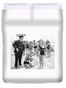 Silent Still: Beach Duvet Cover