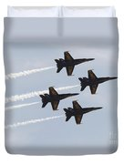 The Blue Angels Perform Aerial Duvet Cover