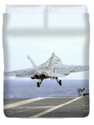 An Fa-18e Super Hornet Launches Duvet Cover