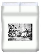 India: Sepoy Rebellion, 1857 Duvet Cover