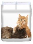 Kitten And Guinea Pig Duvet Cover