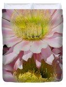 Pink Cactus Flowers Duvet Cover