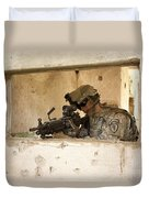 U.s. Army Ranger In Afghanistan Combat Duvet Cover