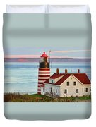 West Quoddy Head Lighthouse Duvet Cover