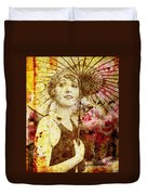Winsome Woman Duvet Cover