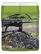 A .50 Caliber Browning Machine Gun Duvet Cover