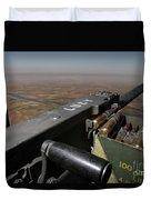 A .50 Caliber Machine Gun Points Duvet Cover by Stocktrek Images