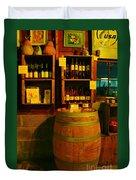 A Barrel And Wine Duvet Cover