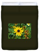 A Beautiful Close Up Of A Sunflower Duvet Cover