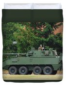 A Belgian Army Piranha IIic Duvet Cover