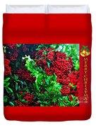 A Berry Merry Christmas Duvet Cover