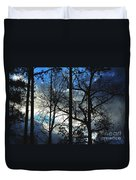 A Blue Winter's Eve Duvet Cover