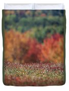 A Blueberry Patch Alongside Maines Duvet Cover