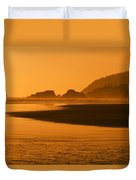 A Body Of Water At Sunset Duvet Cover