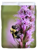 A Bombus Bumblebee On A Duvet Cover