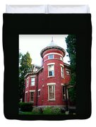 A Brick House With A Turret Duvet Cover